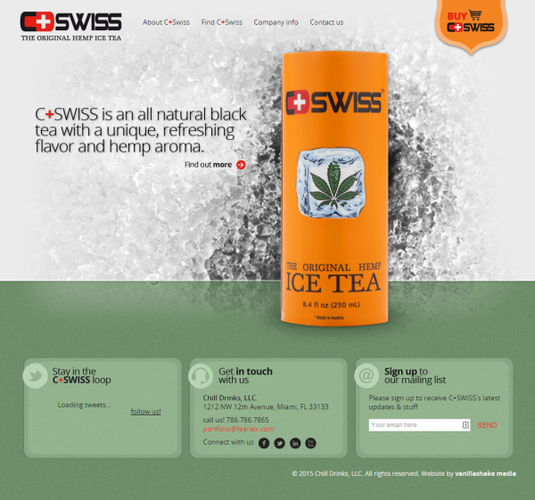C-Swiss Hemp Ice Tea